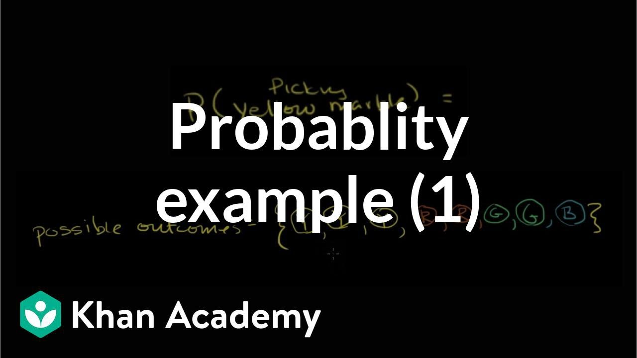 How to find simple probability (example with marbles) (video