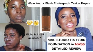 MAC STUDIO FIX FLUID FOUNDATION in NW50 FULL & DETAILED REVIEW | kenny Olapade