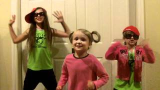 Sisters: Eva (4), Emma (7), and Eliza (9) rap a taunt