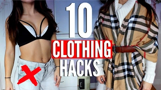 One of Nicoletta xo's most viewed videos: 10 CLOTHING Hacks EVERY Girl MUST KNOW !!!