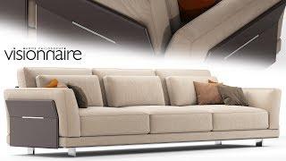 "№178. Modeling Sofa "" Visionnaire anthem "" Autodesk 3ds Max & marvelous designer"