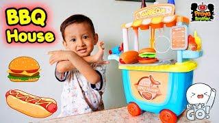 Mainan Gerobak Masak-masakan Burger, Hot Dog, Sosis Bakar | Barbeque House Kitchen Set Toys