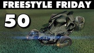 BLACK BATMOBILE | Rocket League Freestyle Friday 50 (Best Goals & Fails)
