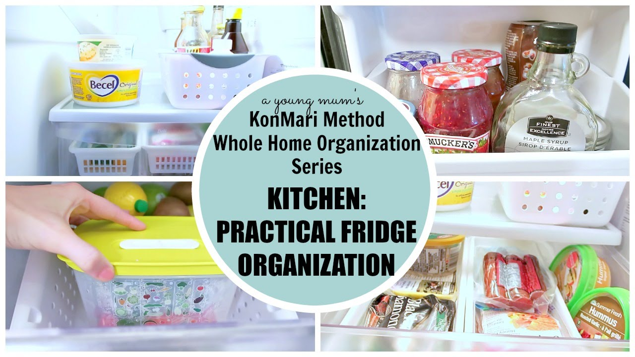KonMari Organization | Kitchen: Fridge BEFORE & AFTER - YouTube