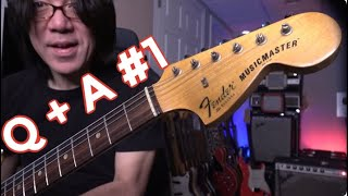 Q & A #1 - How To Use Triads Musically...