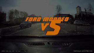 Car crash/ Ford Mondeo vs Truck