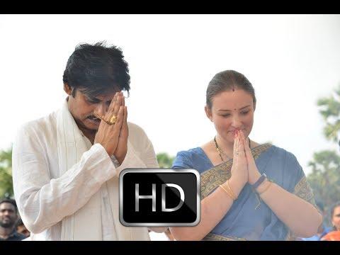 Pawan Kalyan And Anna Lezhneva | Powerstar New House Bhoomi Pooja at Amravati | YOYO Cine Talkies