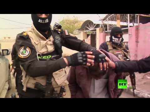 لحظة اعتقال أنصار داعش في الموصل