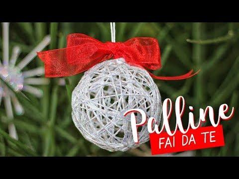 Palle Di Natale Fai Da Te.Palline Di Natale Fai Da Te Con Lo Spago Diy Christmas String Balls