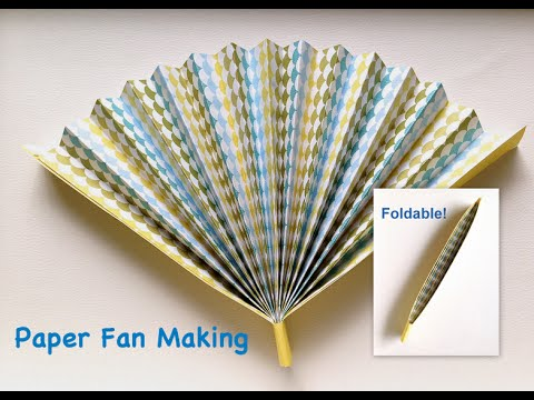Paper Fan Making Easy Tutorial Hand That Can Fold