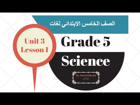 Unit 3 - Lesson 1 - Part 1 - Food relationships among living organism- Grade 5