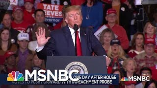 After Impeachment Vote, A Defiant Trump - Day That Was | MSNBC
