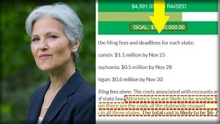 "PEOPLE SCREAM ""SCAM"" AFTER NOTICING ONE THING JILL STEIN QUIETLY DID EACH TIME SHE HIT HER GOAL thumbnail"