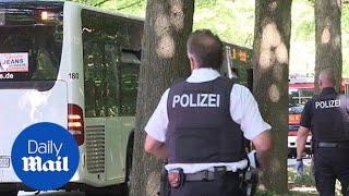 Several people injured during knife attack on bus in Germany - Daily Mail
