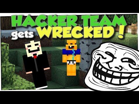 Minecraft Trolling - FLY HACKER NOOB TEAM GETS CAUGHT (Minecraft Pranks Ep 63)