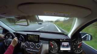 Mercedes C 300 (W205) Dynamic Select Demonstration und Fahrt auf Autobahn