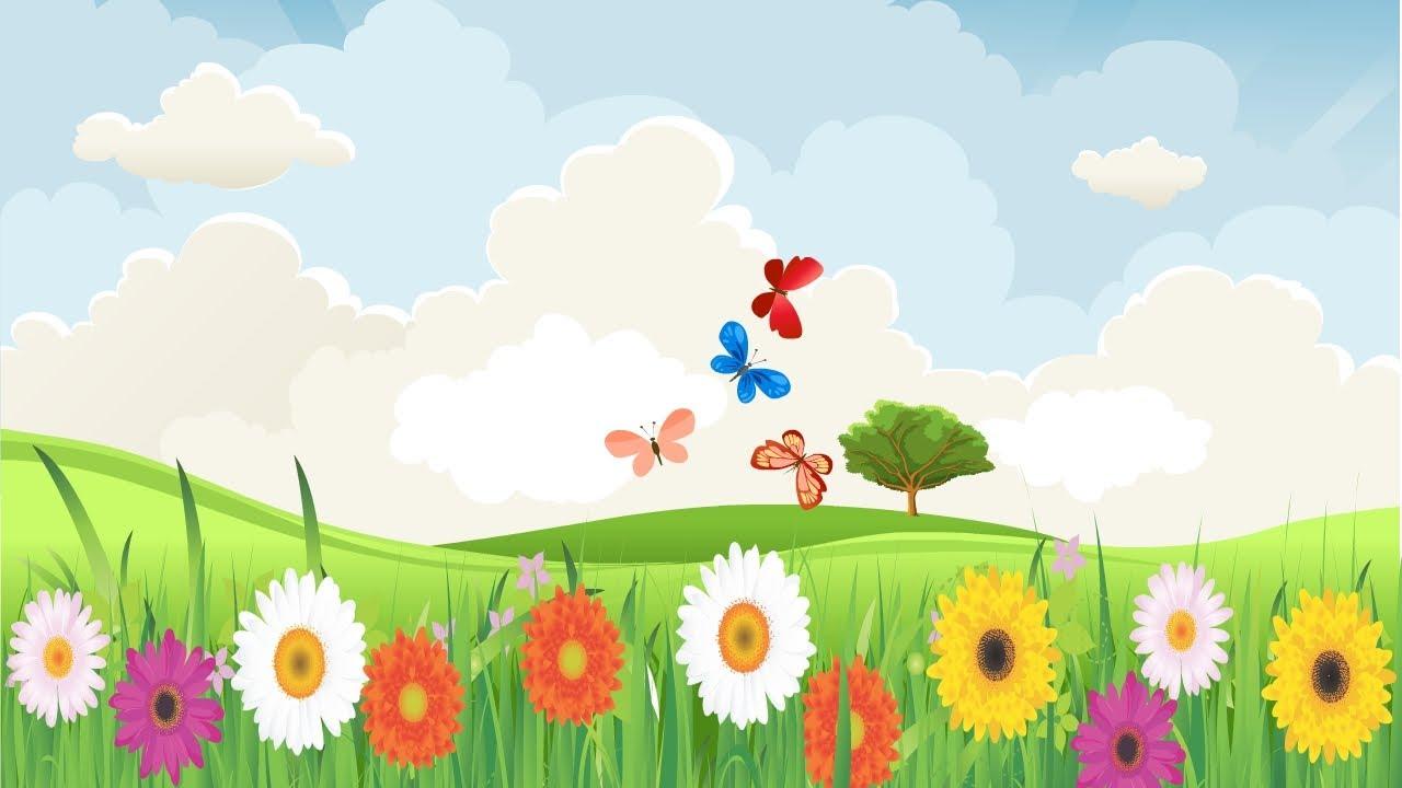 3d Baby Girl Wallpaper Spring Song For Children Simple Song For Kids Learning