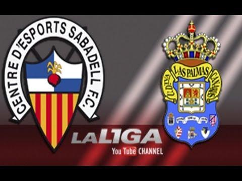 Gol de Thievy Bifouma (0-3) en el CE Sabadell - UD Las Palmas - HD