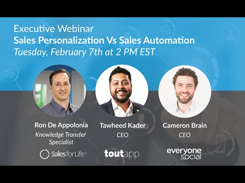 Executive Webinar: Sales Personalization Vs Sales Automation