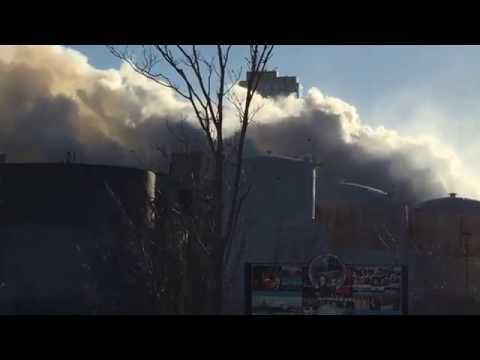 "RARE CATCH OF FDNY MARINE 1, ""AKA"" FDNY 343, BATTLING 7 ALARM WAREHOUSE FIRE IN WILLIAMSBURG, NYC."
