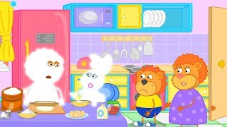 Lion Family Flour Products Cartoon for Kids
