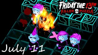 Friday the 13th Killer Puzzle Daily Death July 11 2020 Walkthrough