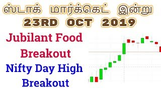 Nifty Day High Breakout| Jubilant Food Breakout | Tamil Share | Intraday Tamil Tips