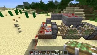 Minecraft Tutorial: Hidden Piston door with inside lock!