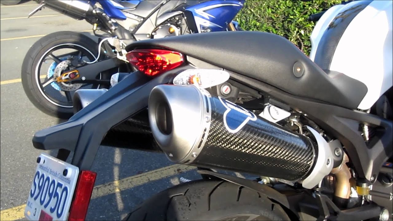 Ducati Monster 796 Termignoni Slip on exhaust - YouTube