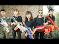 Nerf War Game : SPY SWAT Nerf Guns Fight Attack Criminal Group Stupid Soldiers