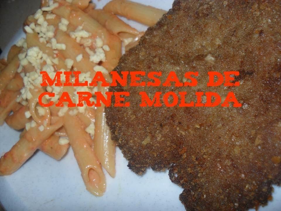 Milanesa (empanizados) de carne molida - YouTube