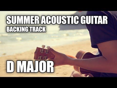Summer Acoustic Guitar Backing Track In D Major