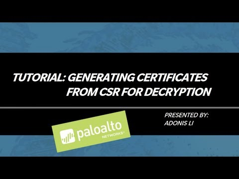 Tutorial: Generating Certificates from CSR for Decryption