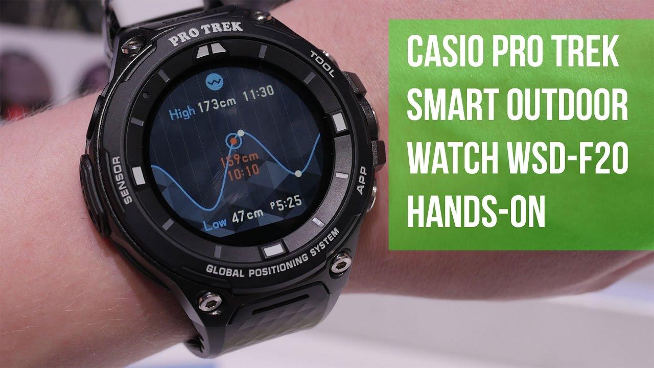 db817f6bf834 Casio Pro Trek Smart Outdoor Watch WSD-F20 Hands-on - YouTube