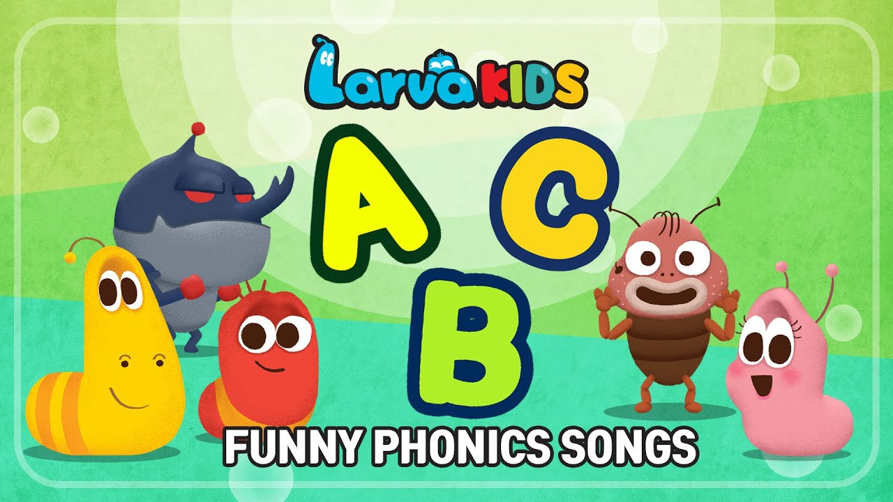★FUNNY PHONICS SONGS★ | ABC song | Larva KIDS | compilation | 10min