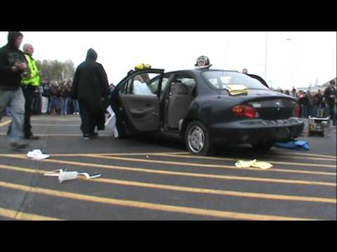 Mock car accident 2012 at Pymatuning Valley High School