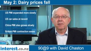 90 seconds at 9 am:Dairy prices fall (news with David Chaston)