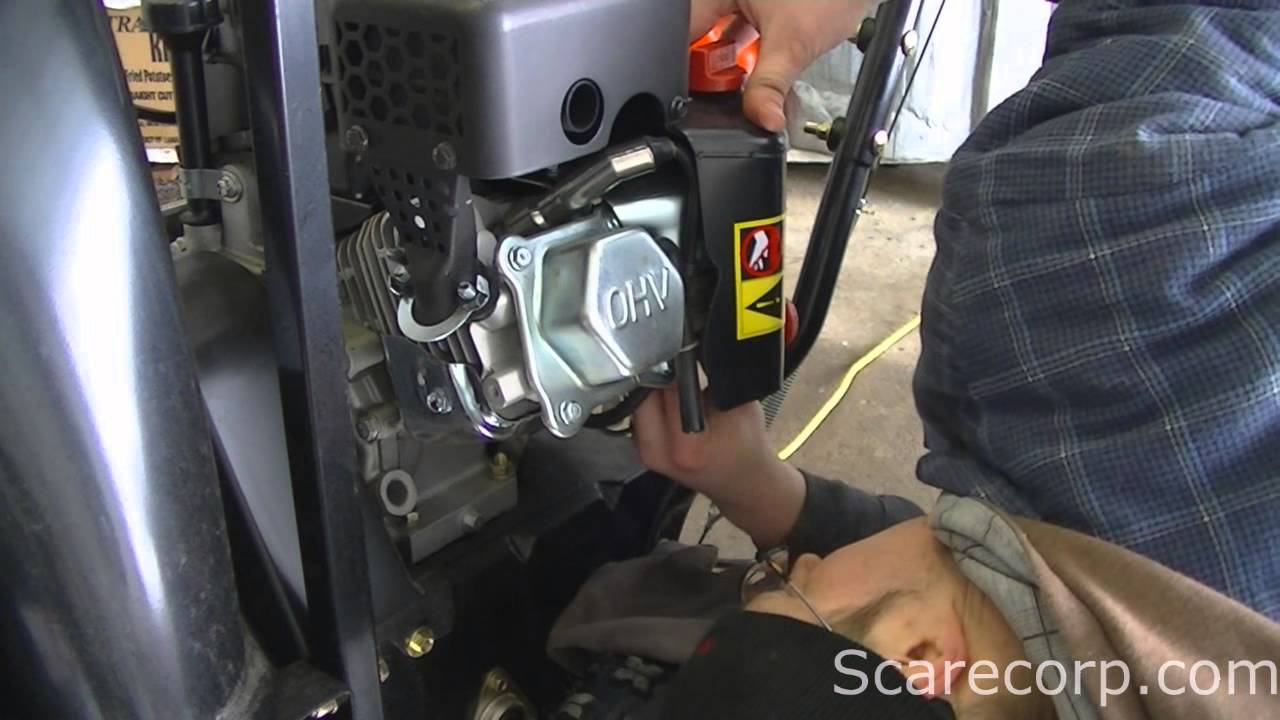 ariens snowblower fuel filter location