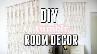 DIY Tumblr Room Decoration! DIY ROOM DECOR 2017! Easy & Inexpensive Macrame !