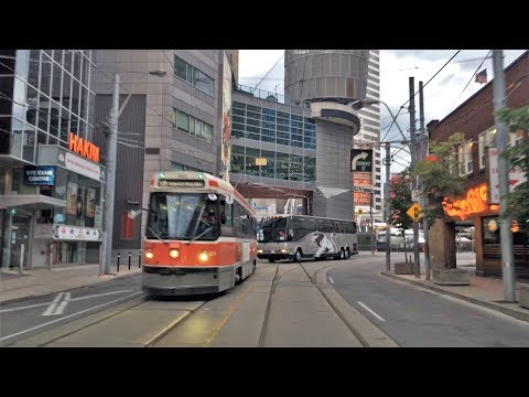 Driving Downtown 4K - Downtown Center - Toronto Canada