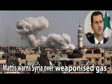 Mattis warns Syria over weaponised gas || World News Radio