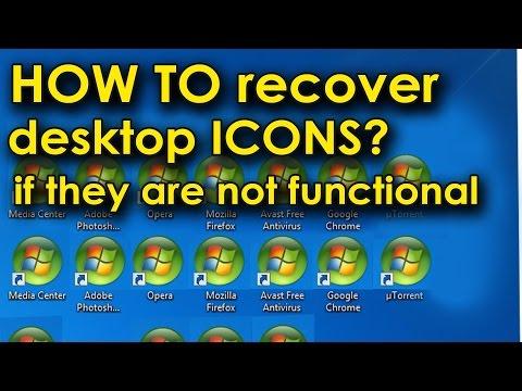 How To Recover Desktop Icons Functionality. Значки рабочего стола одинаковые, как вернуть?