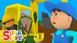 Dharma's Digger Gets Squeaky Clean | Carl's Car Wash | Cartoons For Kids
