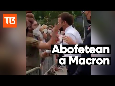 Hombre abofetea al presidente Emmanuel Macron