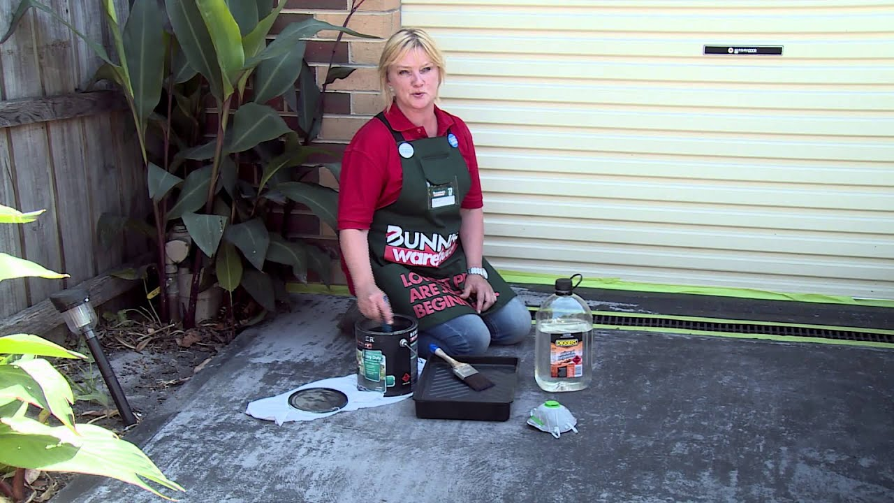 How to paint a concrete driveway diy advice youtube solutioingenieria Images