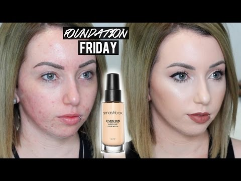 SMASHBOX STUDIO SKIN FOUNDATION New Shades & Formula | First Impression Review on Acne/Pale Skin