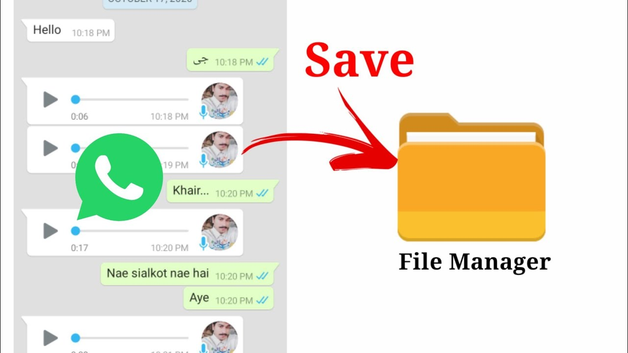 Download Whatsapp audio download   How to save whatsapp voice messages