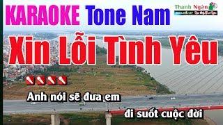 Xin Lỗi Tình Yêu Karaoke 8795 |Tone Nam - Nhạc Sống Thanh Ngân