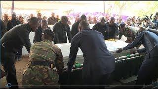 Rais Magufuli, Kikwete, Mkapa, Odinga na wengine washuhudia Mwili ukizikwa
