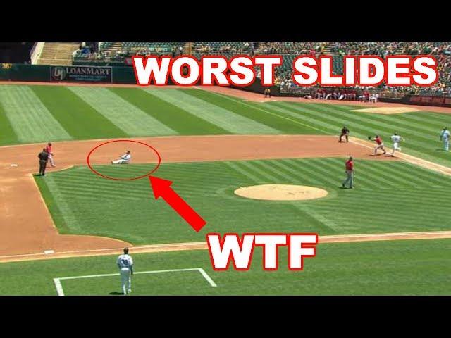 MLB   WORST SLIDES! (HUMILIATING)   1080p HD